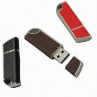 China Genuine Leather USB Flash Drive in Knife Shape, Customized Logos are Available  wholesale