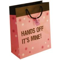 China Pink Small Christmas Gift Packaging Paper Bags with Cotton / Ribbon / Twisted Handle on sale