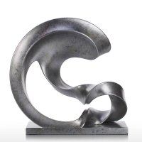 China Modern Abstract Metal Art Sculptures 304 Stone Imitation Stainless Steel Outdoor Sculpture wholesale