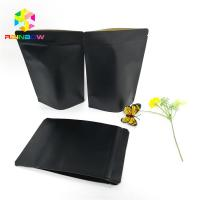 Quality Black Kraft Paper Bag Packaging Custom Logo Stand Up Pouch Recyclable Zip Lock for sale