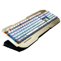 China Rainbow Colorful Ergonomic Gaming Keyboard Multimedia Keys Alumium Alloy Cover wholesale