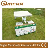 China Aluminum Outdoor Camping Tables / Four Person Folding Dining Table wholesale