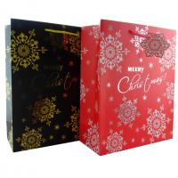 China Luxury Christmas Gift Paper Bags with Flower Patterns differnt colors wholesale