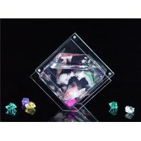 China Mini Rhombus Shaped / Custom Acrylic Fish Tank , Desktop Fish Bowl 3mm Clear wholesale