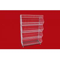 collapsible metal wire storage baskets mobile tiered. Black Bedroom Furniture Sets. Home Design Ideas