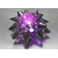 Quality 10CM Dia Metallic LED Ribbon Bow for gift decorations , Pink Blue Silver Star Bow for sale