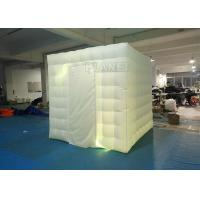 China 2.4x2.4x2.4m Small White Inflatable Party Cube Booth Tent With 2 Doors wholesale