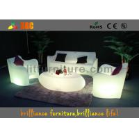 China Rechargable Battery LED Sofas Polyethylene Wireless Remote Control For Bar / Club wholesale