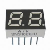 China Seven Segment Numeric LED Display, 0.28-inch, Dual-digit, Various Colors for Controller Display wholesale