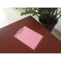 Quality wholesale customize office stationery A3 A4 A5 acrylic plastic clip board with metal clip for sale
