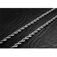 China Mens Stainless Steel Necklace Chain With A Lobster Claw Clasp , Customized Length wholesale