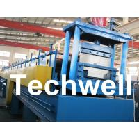China 18 Forming Stations Top Hat Purlin Roll Forming Machine With Manual / Hydraulic Uncoiler wholesale