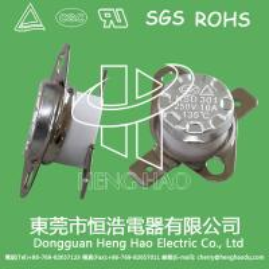 KSD301 auto  reset thermostat,KSD301 thermal cutoff fuse