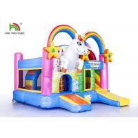 Buy cheap Commercial Outdoor 4 In 1 Unicorn  Inflatable Jumping Castle / Blow Up Bouncer from wholesalers