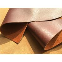 China 5'' Width Upholstery Stretch Leather Fabric With 15% Cotton And 15% Polyester wholesale