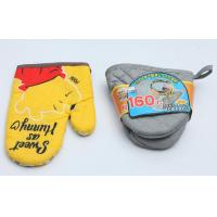China Colorful  Fireproof Oven Mitts , High Temp Oven Mitts Thickened Plain Design wholesale