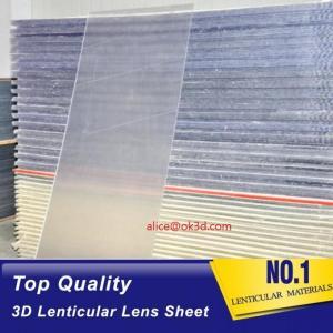 China OK3D sell 70LPI PET 0.9MM 60X80CM Lenticular Plastic lens for 3d lenticular printing by injekt print and UV offset print wholesale