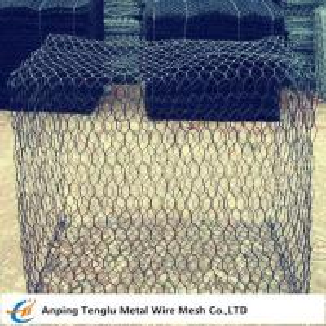China Woven Gabion Box Gabion Basket With 60x80mm Hexagonal Mesh Double Twisted wholesale