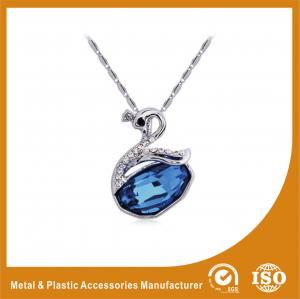 China Blue Crystal Goose Rhinestone Chain Necklace , Fashion Jewelry Necklace wholesale