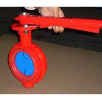 China Red Butterfly Valve Double Flange / Flowline Butterfly Shut Off Valve wholesale