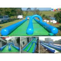 China Custom Double Lane Outdoor Adult Inflatable Water Slide For Play Center / Rental on sale