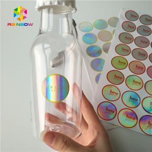China Bottle / Jar Shrink Sleeve Labels Round 3d Laser Holographic Hologram Sticker wholesale
