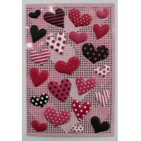 China Small 3D Heart Shaped Stickers , PVC PET EVA Puffy Heart Stickers For Envelopes wholesale