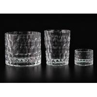 China Dimpled Cylindrical Clear set of 3 glass candle holders for Candle Making wholesale