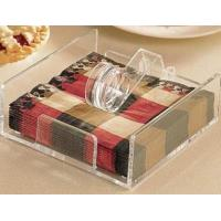 China Popular Shape Acrylic Napkin Holder For Hotel Display wholesale