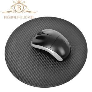 China Round Shape Carbon Fiber Furniture Fashion Mouse Mat Black Color wholesale