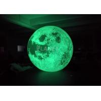 China Colorful Changing Large Inflatable Moon Ball 3m Dia Customized wholesale