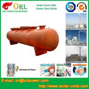 China Condensing Gas Boiler Mud Drum Heat Insulation 10 Ton - 1000 Ton wholesale