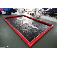 China Red 0.9mm Pvc Tarpaulin Car Wash Water Containment wholesale