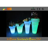 China Colors Changeable LED Plant Pots Water Resistance For Event / Party Wedding wholesale