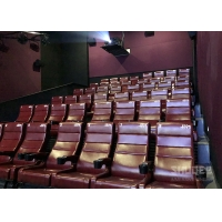 China 12 HZ Vibration Rate Comfortable Red Cinema Seats in Special Effects With Cup Holder wholesale