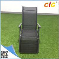 China Aluminum lightweight folding sling chaise lounger /  comfortable recliner chair popular sun bed wholesale
