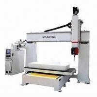 China 5-axis CNC woodworking machine router with EU ASAI control system, 2100mm Z-axis height, servo motor wholesale