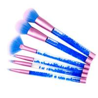 Buy cheap Professional Makeup Brush Set Rhinestone Decorated Transparent Acrylic Handle Nylon Hair from wholesalers