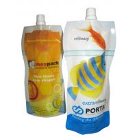China Environment friendl  Strong sealing strength stand up pouch with spout special shape for juice drinks wholesale