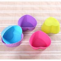 China Colorful Muffin Silicone Muffin Cups Tray Anti Bacteria 6.8*5*3cm wholesale