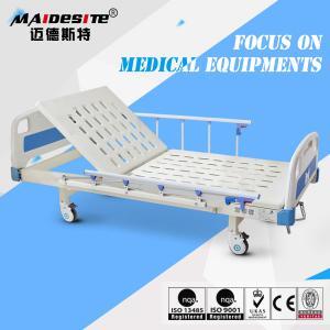 China Antique Manufacturer Single Iron Manual Adjustable Bed , Hospital Style Beds wholesale