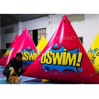 China Triangular Inflatable Marker Buoy With D Rings Customized Size wholesale