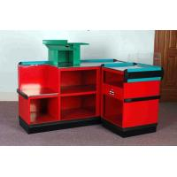 China Steel Plastic Material Supermarket Cashier Counter , Retail Check Out Counters wholesale