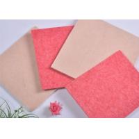 China Industrial Polyester Acoustic Panels Soundproof Boards With Pink on sale