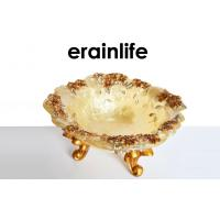 China Luxury Gold Polyresin Fruit Tray REACH Home Decorating Items wholesale