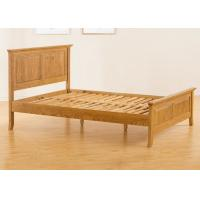 China Teenage Student Wooden Single Bed Frame , Comfortable Real Wood Bed Frame wholesale