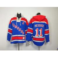 China NHL New York Rangers 11 Mark Messier Blue Hoodies Jersey wholesale