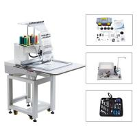 China Touch Screen Computerized Single Head Cap Embroidery Machine Wooden Packing wholesale