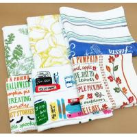 Quality Pigment Printed Kitchen Tea Towels Quick Dry Soft Textile With Lightweight for sale