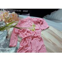 China Embroidered Pattern Luxury Bath Robes For Hotel / Home Jacquard Cotton Fabric wholesale